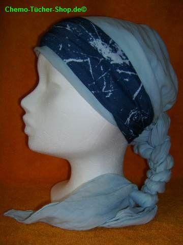 Multifunktionstücher binden - um ein Baumwolltuch als Stirnband gebunden