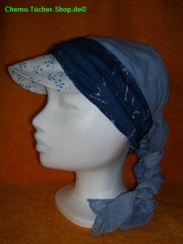 Multifunktionstücher binden - um ein Tuch mit Schild als Stirnband gebunden